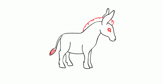 كيف ارسم حمار 19