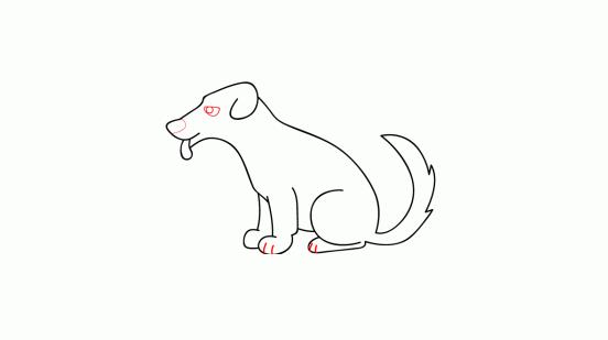 كيف ارسم كلب 9