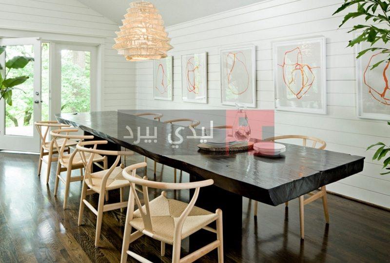طاولات طعام خشب طبيعي 1
