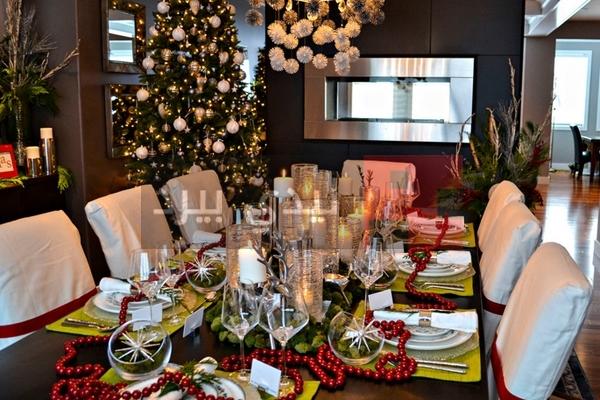تزيين طاولة حفلات عيد الكريسماس 1