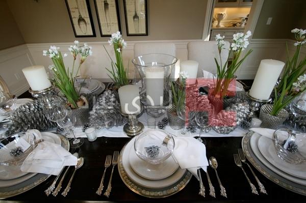تزيين وترتيب الطاولة في العيد