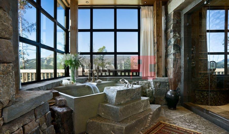 ديكور حوائط حمامات حجرية 1