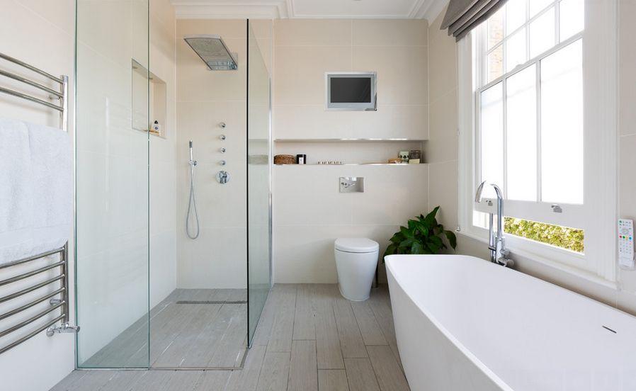 تصاميم حمامات صغيرة ليدي بيرد