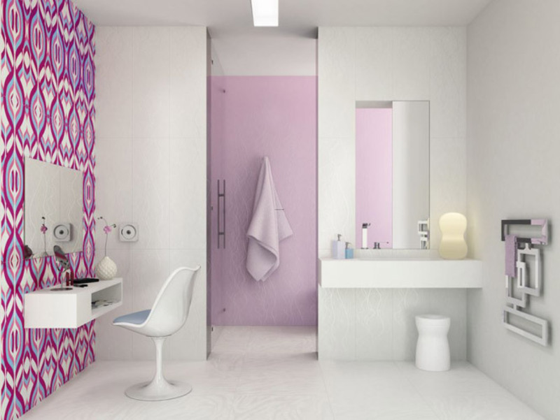 Beautiful and Colorful Bathroom Tiles 05 – Architecture