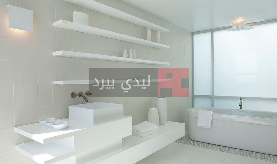 ديكورات حمامات بيضاء 1
