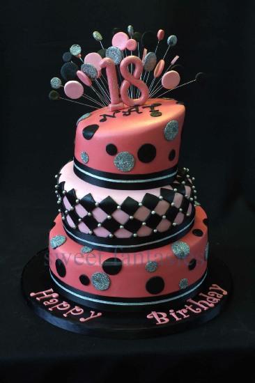 3-Tier-18th-Birthday-Cake-2