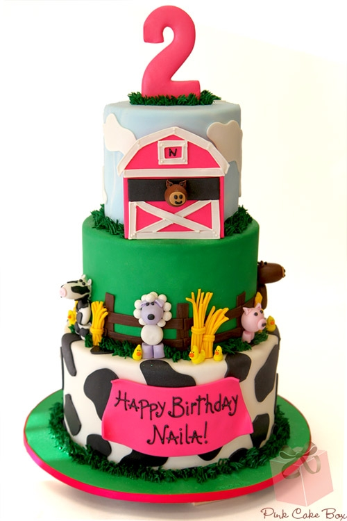 2nd Birthday Farm Animal Cake Birthday Cakes Barnyard Birthday Cakes - Birthday Cakes