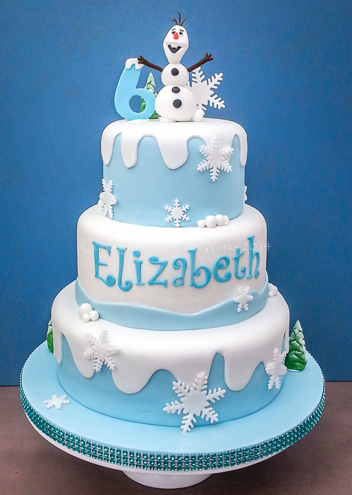6th birthday, based on the animated film Frozen