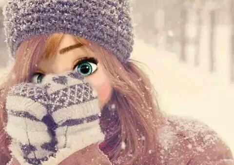 صور بنات عن البرد