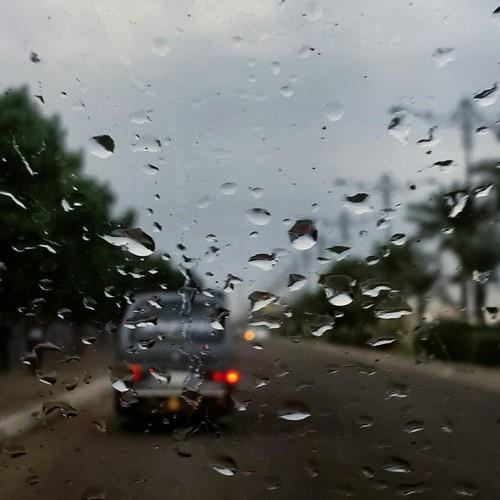 صور مطر من السيارة