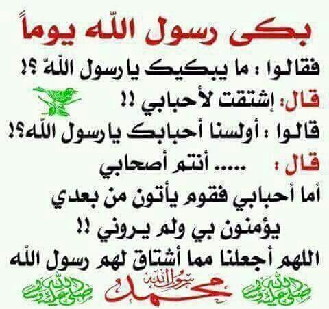 كلام عن النبي