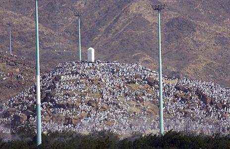 الحجاج على جبل عرفات
