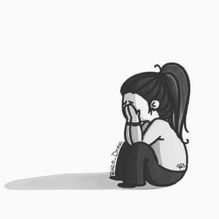 وجوه حزينة كرتون