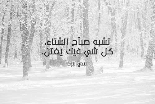 كلمات صباح الشتاء الجميل والبارد 1