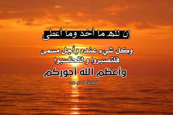 كلمات تعزية اهل الميت ليدي بيرد