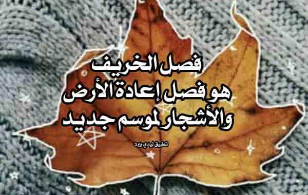 كلام جميل عن الخريف