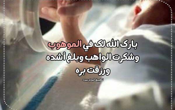 عبارات مولود جديد ولد